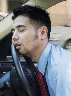Falling asleep in a car