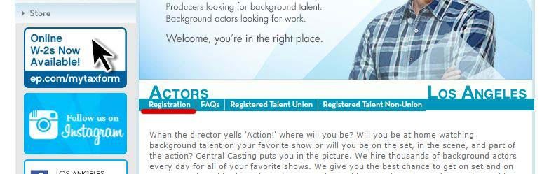 Central Casting Los Angeles - Second Step